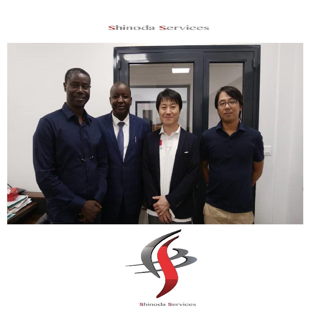 Visite de Fujitsu a diamniadio shinodaservices interprete japonais anglais senegal